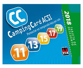 tarjeta campingcar acsi free camping