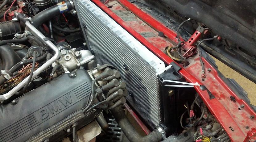 radiador coche obstrruido
