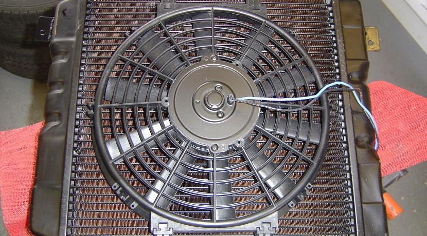 ventilador radiador coche en mal estado